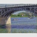 Gustave Caillebotte: Die Brücke von Argenteuil und die Seine, um 1883, 65 x 82 cm, Sammlung Hasso Plattner