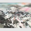 Winterberg, 2015, Farbstift, Pastell und Gouache auf Papier, 129 x 159 cm