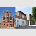 Außenansichten der Rathaushalle Frankfurt (Oder) (l.) und des Packhofs Frankfurt (Oder)(r.). Foto und Copyright: Marlies Kross
