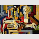 Pablo Picasso (1881-1973): Atelier mit Büste und Gipsfragmenten, 1925, The Museum of Modern Art, New York, © Succession Picasso / VG Bild-Kunst, Bonn 2016