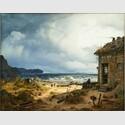 Andreas Achenbach, Küstenlandschaft, München 1837, Öl auf Leinwand, Privatsammlung © Museum LA8 Baden-Baden