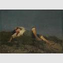 Franz von Lenbach (1836 – 1904). Hirtenknabe, 1860. Öl auf Leinwand, 107,7 x 154,4 cm. © Bayerische Staatsgemäldesammlungen München - Sammlung Schack