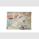 Günter Grass. Junge Frau mit Apfel, Aquarell o. D. (c) Günter und Ute Grass Stiftung