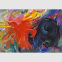 Franz Marc, Kämpfende Formen, 1914. Öl auf Leinwand, 91 x 131,5 cm. Bayerische Staatsgemäldesammlungen, Pinakothek der Moderne, München. © Blauel/Gnamm/ARTOTHEK