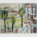 Wannsee, 1928, Aquarell, 23,5 x 29,2 cm