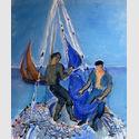 Les pêcheurs, St. Tropez, 1952, Öl auf Leinwand, 61 x 50 cm