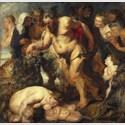 Peter Paul Rubens, Der trunkene Silen, um 1617/18, Anstückungen um 1625. Öl auf Holz, 212 × 214,5 cm (Gesamtmaß). © Bayerische Staatsgemäldesammlungen, Alte Pinakothek, München