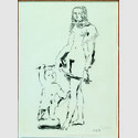 Pablo Picasso. Venus und Amor, nach Cranach, 25.5.1949, Lithographie, 78 x 58 cm. © Sammlung Würth / Succession Picasso / VG Bild-Kunst, Bonn 2016