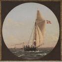 Christoffer Wilhelm Eckersberg (1783–1853). Segelpartie von Kopenhagen nach Charlottenlund, 1824, Öl auf Leinwand, 44,5 x 45 cm, Kopenhagen, Statens Museum for Kunst. Foto: SMK - The National Gallery of Denmark
