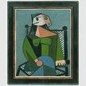 Pablo Picasso. Sitzende Frau im Lehnstuhl, 31.10.1941, Öl auf Leinwand, 100 x 81 cm 100 x 81 cm. © Sammlung Würth / Succession Picasso / VG Bild-Kunst, Bonn 2016.