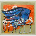 Mimmo Rotella, Direct, 1989, Mischtechnik auf Leinwand, 89 x 72 cm
