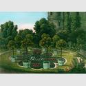 """Muskau, Blumengärten im Pleasureground (Ausschnitt), aus: Hermann Fürst von Pückler-Muskau, Andeutungen über Landschaftsgärtnerei, 1834. © Stiftung """"Fürst-Pückler-Park Bad Muskau"""""""