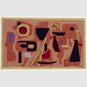 Willi Baumeister. Roter Fries 1952/1954 Serigrafie 43 x 61 cm Archiv Baumeister im Kunstmuseum Stuttgart. Foto: Archiv Baumeister im Kunstmuseum Stuttgart © VG Bild-Kunst, Bonn 2016