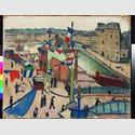 Albert Marquet: La fête nationale au Havre (Der Nationalfeiertag in Le Havre), 1906 (evtl. 1913), Öl auf Leinwand, 65 x 81 cm, Hahnloser/Jaeggli Stiftung, Winterthur, Foto: Reto Pedrini, Zürich © VG Bild-Kunst, Bonn 2016
