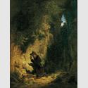 """Carl Spitzweg, Der Geologe, o. J. (für die Ausstellung """"Mehr Licht!""""). Von der Heydt-Museum Wuppertal"""