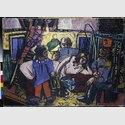 Max Beckmann: Im Artistenwagen (Zirkuswagen), 1940. Öl auf Leinwand, 86,5 x 118,5 cm. Städel Museum, Frankfurt am Main © VG Bild-Kunst, Bonn 2016. Foto: Städel Museum – U. Edelmann - ARTOTHEK