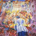 Umberto Boccioni: La Strada entra nella casa, 1911. Öl auf Leinwand. Sprengel Museum Hannover, Kunstbesitz der Landeshauptstadt Hannover. Foto: Sprengel Museum Hannover. Fotograf: Herling/Gwose/Werner, Sprengel Museum Hannover. Gemeinfrei.