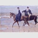 Max Liebermann: Reiter und Reiterin am Strand, 1903, Öl auf Leinwand, 72,5 x 101 cm. Wallraf-Richartz-Museum & Fondation Corboud, Köln / Foto: Rheinisches Bildarchiv Köln, rba_c016036
