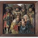 "Predella ""Anbetung der Könige"", um 1520–1530, 60,5 x 64 cm. Leihgabe aus dem Oblastni muzeum Chomutov/ Regionalmuseum Komotau. Foto: David Stecker. © 2016 Oblastní muzeum Chomutov"