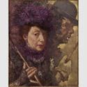 Lotte Laserstein (1898-1993): Mackie Messer und ich, um 1932. Öl auf Holz, 53,5 × 43,7 cm. Privatbesitz. Foto: Lotte-Laserstein-Archiv / Krausse, Berlin. © VG Bild-Kunst, Bonn 2018. Städel