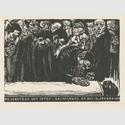 Käthe Kollwitz, Gedenkblatt für Karl Liebknecht, dritte, endgültige Fassung, 1920, Holzschnitt © Käthe Kollwitz Museum Köln