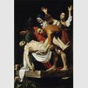 MICHELANGELO MERISI, GEN. CARAVAGGIO (1571 - 1610), DIE GRABLEGUNG CHRISTI, 1602/03. Leinwand, 300 × 203 cm. © Vatikanstadt, Musei Vaticani, Pinacoteca Vaticana