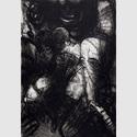 Ellen Fuhr (1958):Nächtliches Café, 1987, Radierung; 13/20; 72,8 x 53,8 cm, 63,5 x 43,7 cm, erworben 1989; Foto: Winfried Mausolf, Frankfurt (Oder)