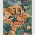 Georges Braque: Le Viaduc de L'Estaque / Der Viadukt von L'Estaque, Anfang 1908, Centre Pompidou, Musée national d'art moderne, Paris © VG Bild-Kunst, Bonn 2020 © Foto: Centre Pompidou, MNAM-CCI / Jacques Faujour / Dist. RMN-GP