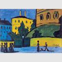 Erich Heckel: Vorstadt, 1910, Öl auf Leinwand, 49 x 68,8 cm. Kunstsammlungen Chemnitz – Museum Gunzenhauser. Eigentum der Stiftung Gunzenhauser, Chemnitz. Foto: Kunstsammlungen Chemnitz