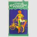 Plakat der Firma Continental, 1971, aus einer Reihe von vier Gleichartigen Werbeplakaten in betont hochrechteckigem Format. Im Stil der Pop-Art sind Fotos als Plakatmotive verwendet und farbig verfremdet worden (Tontrennung). 'Continental Polo Reifen' 'Modern, Sportlich, 100% Nylon, Rassig, Griffig'