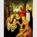 Lucas Cranach d.Ä. (1472-1553), Madonna umgeben von Heiligen. Copyright Anhaltische Gemäldegalerie Dessau.