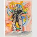 Sandro Chia; o.T. 1989, Tusche-, Bleistift, Aquarell auf Papier. Foto: Jens Sauerbrey