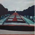 Die bleierne Zeit, 2001, Öl auf Leinwand, 200 x 200 cm