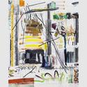 Andreas Breunig, Hi_LoRes_No. 58, 2019, Öl, Graphit und Kohle auf Leinwand, 210 x 170 cm, Courtesy Nino Mier Collection, © Andreas Breunig, Foto: Johannes Bendzulla