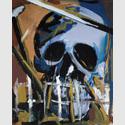 Bernd Zimmer (*1948) Totenschädel. Oltre la Morte, 1977, Dispersion, Leimfarbe auf Nessel, 160 x 130 cm. © VG Bild-Kunst, Bonn 2015