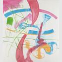 Michel Majerus (1967–2002). MoM Block nr. 27, 1998. Acryl auf Baumwolle. Städel Museum, Frankfurt am Main, Eigentum des Städelschen Museums-Vereins e.V. © Michel Majerus Estate, 2020