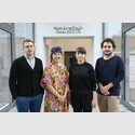 Nominierte Künstlerinnen und Künstler Shortlist. Internationaler Nam June Paik Award 2016 (v.l.n.r.). Lawrence Abu Hamdan, Trisha Baga, Katja Novitskova, Neïl Beloufa