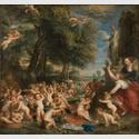 Peter Paul Rubens (1577-1640): Nach Tizian, Venusfest, um 1635, Öl auf Leinwand, 196 cm x 209,9 cm, Nationalmuseum, Stockholm, © Foto: Nationalmuseum