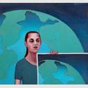 Tremezza von Brentano, Große und kleine Welt, 2017, Öl auf Leinwand, 70x75 cm © VG Bild-Kunst, Bonn 2017