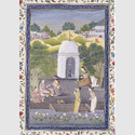 signiert Mihr Tschand: Hindufrauen beim Lingamopfer. Lucknow (Indien), um 1775. Gold und Wasserfarben auf Papier © bpk / Staatliche Museen zu Berlin, Museum für Islamische Kunst / Reinhard Saczewski