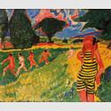 Max Pechstein (1881-1955): Das gelbschwarze Trikot, 1910, Brücke-Museum Berlin, Dauerleihgabe aus Privatbesitz, © 2017 Pechstein Hamburg / Tökendorf