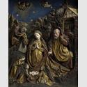 Geburt Christi, Straßburg, um 1470–1480. Stuck, farbig gefasst, 31,5 x 25 cm. Liebieghaus Skulpturensammlung, Frankfurt am Main. Foto: Rühl & Bohrmann