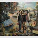 Gerard Waskievitz drei Grazien 2017 Öl auf Leinwand200cm x180cm