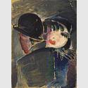 Werner Scholz (1898-1982), Am Bülowbogen, um 1930, Farblithographie © Berlinische Galerie – Landesmuseum für Moderne Kunst, Fotografie und Architektur. Leihgabe aus Privatbesitz, Hamburg