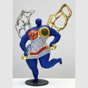"Niki de Saint Phalle: La tempérance, Modell für ""Jardin des tarots"" 1985, Polyester, bemalt, 72 x 53 x 23 cm. Sprengel Museum Hannover, Schenkung Niki de Saint Phalle. Foto: Sprengel Museum Hannover. Fotograf: Herling/Gwose/Werner, Sprengel Museum Hannover. © N.C.A.F. – Donation Niki de SAINT PHALLE – Sprengel. Museum Hannover. © VG Bild-Kunst, Bonn 2016"