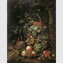 """Abraham Mignon, """"Stillleben mit Fruchtkorb an einer Eiche"""", um 1670, Museum Kunstpalast, Foto: Inken Holubec"""