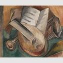 Georges Braque: Les instruments de musique / Die Musikinstrumente, Herbst 1908, Centre Pompidou, Musée national d'art moderne, Paris © VG Bild-Kunst, Bonn 2020 © Foto: Centre Pompidou, MNAM-CCI / Georges Meguerditchian / Dist. RMN-GP