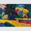 Wassily Kandinsky, Murnau – Landschaft mit grünem Haus, 1909, Privatsammlung