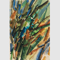 Harry Kögler: o.T., 1958, Aquarell, 57,8 × 39,4 cm.  © Nachlass Harry Kögler