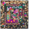 Linda Esbach. African Inspired Afrikanisch inspiriert 2000. Textilien / Fabric, 160 x 160 cm. Sammlung Würth, Inv. 17065